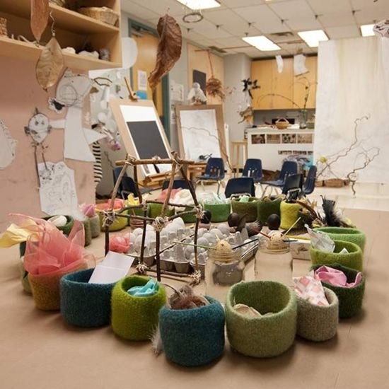 wide variety of materials utilized in a child care setting